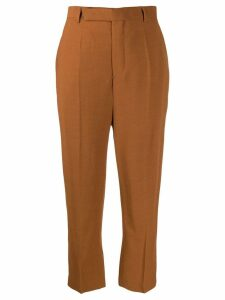 Rick Owens cropped tailored trousers - Brown