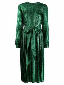 Marc Jacobs pleated lamé dress - Green