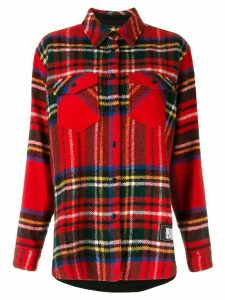 We11done tartan oversized shirt - Red