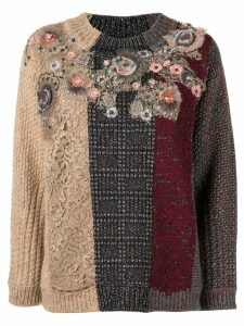 Antonio Marras lace-panelled jumper - Red