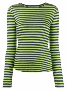 YMC striped long-sleeve top - Green