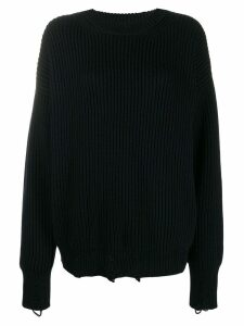Nina Ricci distressed wool jumper - Blue