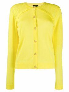 Escada perforated panel cardigan - Yellow