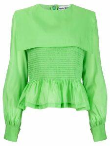 Molly Goddard Penny ruffled blouse - Green