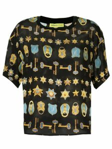 Versace Jeans Couture padlock and key print T-shirt - Blue