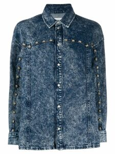 Sandro Paris studded denim shirt - Blue