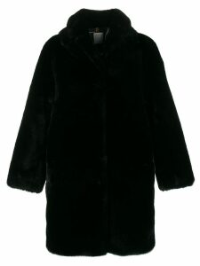 Sandro Paris faux-fur midi coat - Black