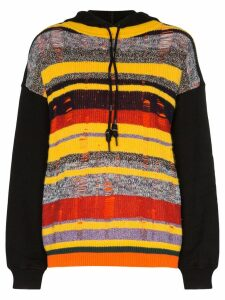 Angel Chen striped hooded jumper - Multicolour