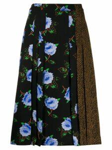 Essentiel Antwerp contrast panel midi skirt - Black