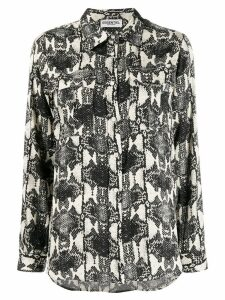 Essentiel Antwerp long sleeved printed shirt - NEUTRALS