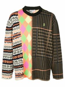 Opening Ceremony long sleeve mix argyle jumper - Multicolour
