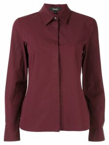 Theory concealed placket shirt - Red