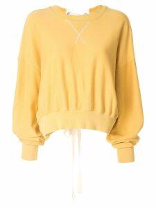 Bassike lace-up sweatshirt - Yellow
