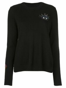 Nicole Miller evil eye sweater - Black