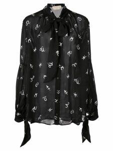 Nicole Miller horoscope blouse - Black