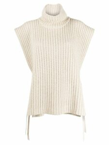See By Chloé turtleneck knitted top - NEUTRALS