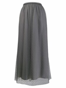 RedValentino tulle layered long skirt - Grey