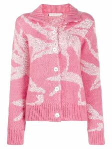 Tory Burch wool knitted cardigan - PINK