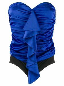 Nineminutes off-shoulder ruched top - Blue