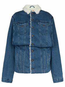 Y/Project sheepskin lined denim jacket - Blue