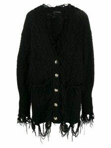 Etro destroyed effect cardigan - Black