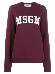 MSGM logo print sweatshirt - Red
