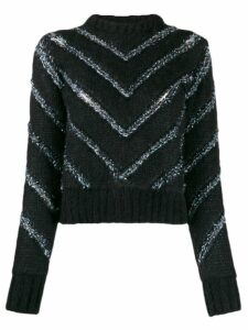 Y/Project chevron stripes jumper - Black