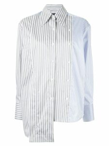 Eudon Choi asymmetric panelled shirt - Blue