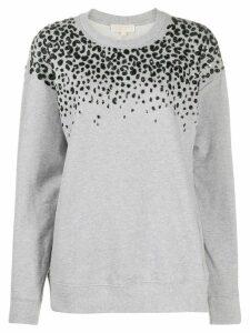 Michael Michael Kors leopard print sweatshirt - Grey