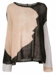Eckhaus Latta patchwork sweater - Black