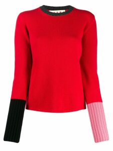 Marni colour block jumper - Red