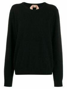 Nº21 round-neck sweater - Black
