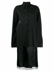 Mm6 Maison Margiela oversized logo shirt - Black