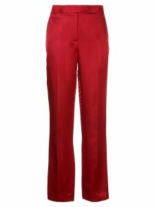 Helmut Lang high waisted straight leg trousers - Red