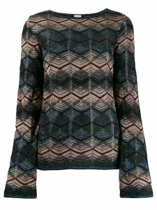 M Missoni patterned sweatshirt - Blue