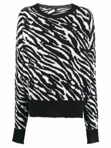 Unravel zebra print sweater - Black