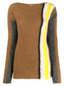 Tela colour-block knitted jumper - Brown