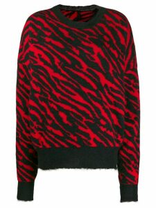UNRAVEL PROJECT zebra print jumper - Black