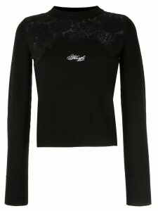 Philosophy Di Lorenzo Serafini lace-panel sweater - Black