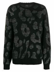 MARCELO BURLON COUNTY OF MILAN leopard print sweater - Black