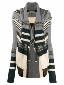 High by Claire Campbell patterned cardigan - Grey