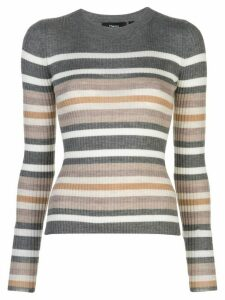Theory ribbed knit striped jumper - PINK