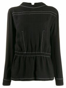Marni peplum hem blouse - Black