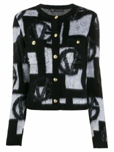 Versace knitted VG cardigan - Black