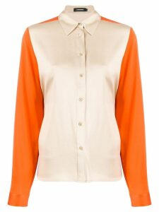 J.Lindeberg colour-block fitted shirt - ORANGE
