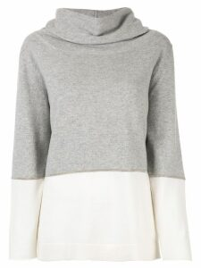 Fabiana Filippi cowl neck jumper - Grey