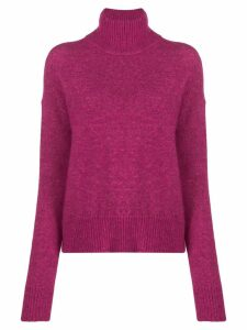 J.Lindeberg turtle-neck ribbed sweater - PINK