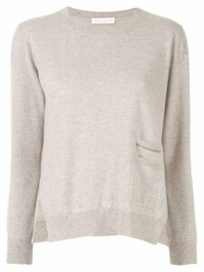 Fabiana Filippi pocket trim jumper - Grey