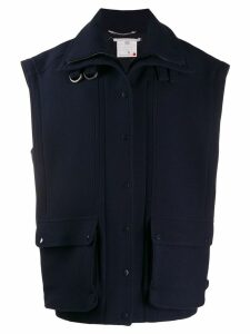 Stella McCartney oversized wool gilet - Blue
