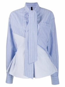 Unravel tie neck shirt - Blue